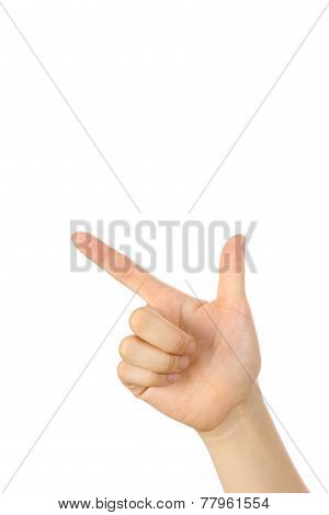 pointing sign
