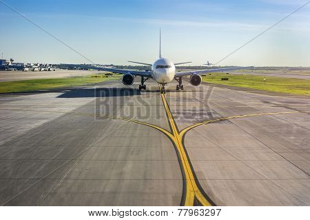 Airplane On Its Runway At The Airport