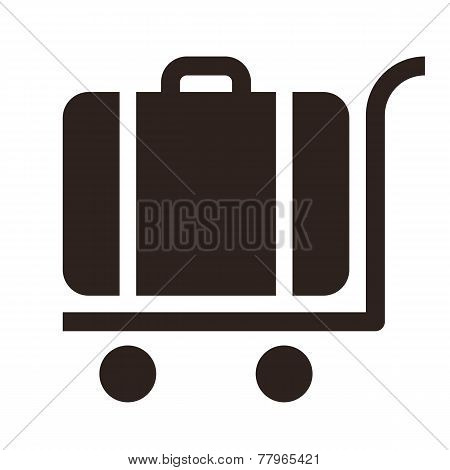 Baggage Cart - Travel Icon