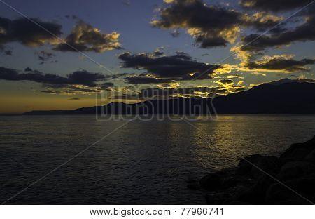 Autumn Sunset over The Sea