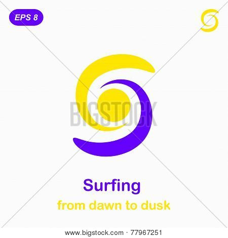 Surfing Conception Icon