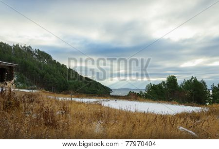 Sea Coast In The North Of Russia
