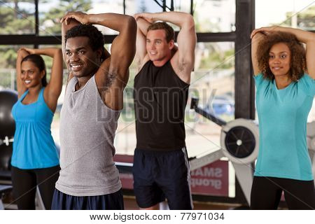 Multi-ethnic Group In A Gym