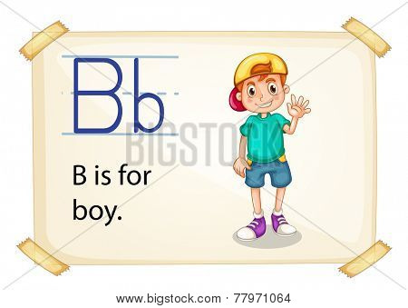 Poster of an alphabet B for boy