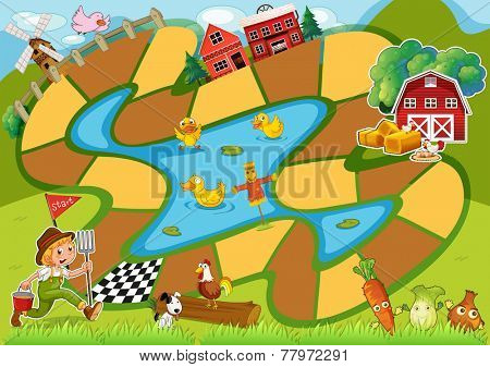 Board Game with the farm theme