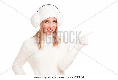 White Fashion Winter Beauty.