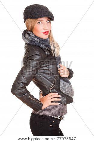 Cool Winter Fashion Girl.