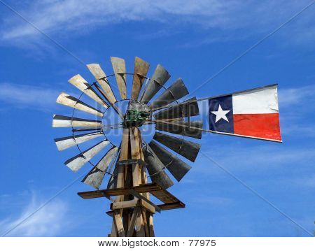 Windmühle In Texas