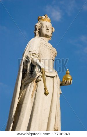 Queen Anne statue, St Paul's cathedral, London