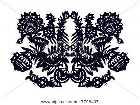 dark blue birds- pattern
