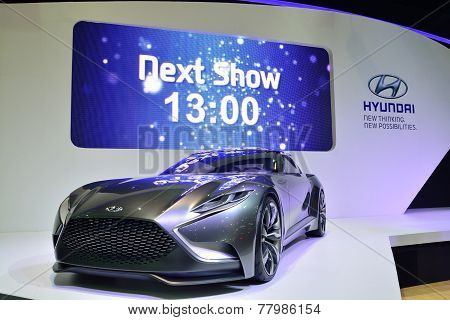 Nonthaburi - December 1: Hyundai Hnd 9 Concept Car Display At Thailand International Motor Expo On D