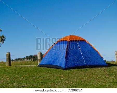 Small Blue Tent.