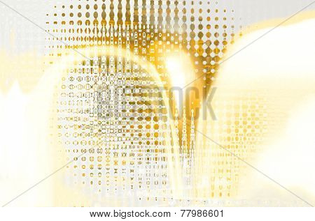 Beautiful abstract image of a Airbrush Painting on Glass