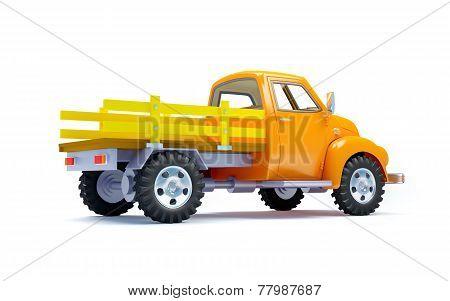 old truck back