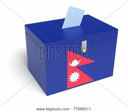 Nepali Flag Ballot Box