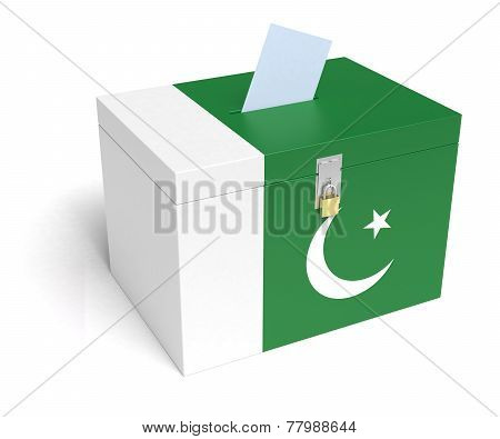 Pakistani Flag Ballot Box