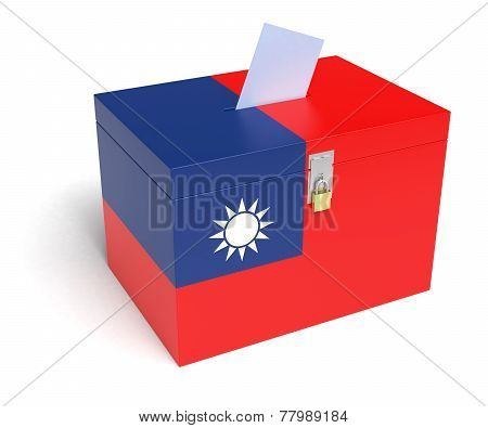 Taiwanese Flag Ballot Box