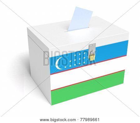 Uzbek Flag Ballot Box