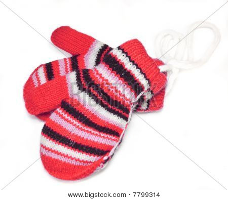 Two Striped Mittens