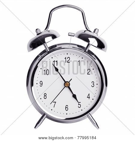 Five Minutes To Five On An Alarm Clock