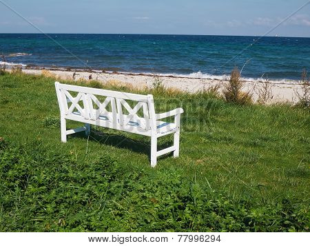Bench On A Beautiful Beach