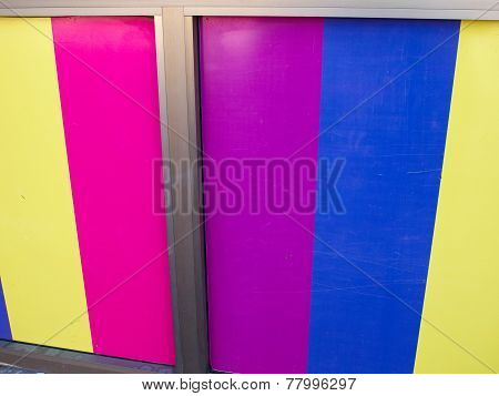 Colorful Panels On A Wall