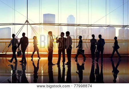 Business People Meeting Seminar Corporate Office Concept
