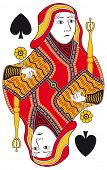 pic of spade  - Queen of spades without playing card background - JPG