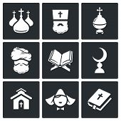 Постер, плакат: Religion Icon Set