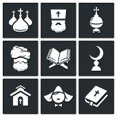 Постер, плакат: Religion Icon Set