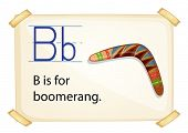 foto of boomerang  - Poster of an alphabet B for boomerang - JPG