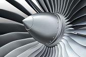 stock photo of rotor plane  - Jet engine - JPG
