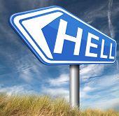 image of sinner  - welcome to hell evil sinner go to the devil disaster  - JPG