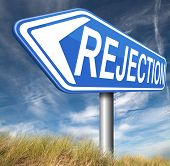 image of rejection  - rejection letter for job vacancy or fear to get your visa rejected or a real good proposal they reject - JPG