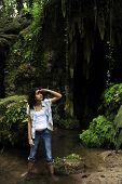 Female Tourist Lost In The Jungle poster