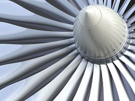 pic of wind vanes  - Jet engine - JPG
