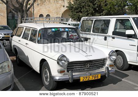 Peugeot 404 Car At The City Parking