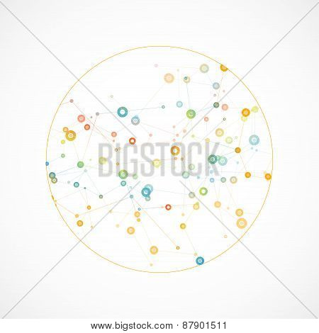 Network background with a molecular structure eps