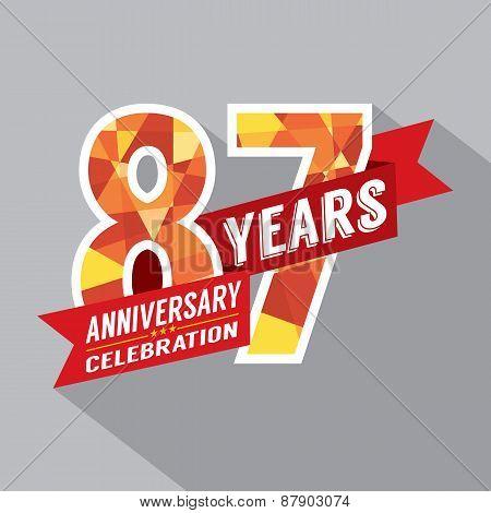 87Th Years Anniversary Celebration Design.