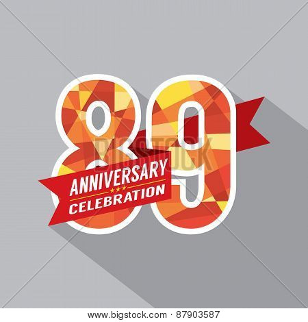 89Th Years Anniversary Celebration Design.