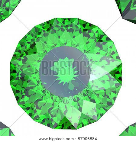 Jewelry Background with  gemstones. Emerald