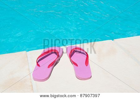 Swimming pool at the hotel of camping