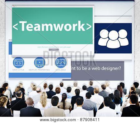 Business People Teamwork Web Design Concept