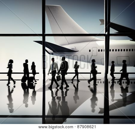 Business People Communication Airport Concept