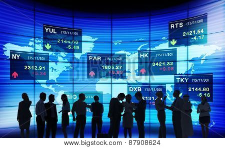 Business People Stock Exchange Concept