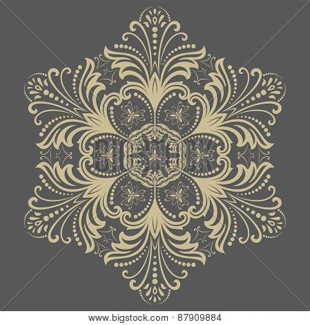 Orient  Pattern. Abstract Golden Ornament