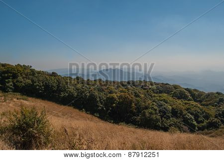 View Point On The Mountain Beautiful Nature  For Travel Adventure Way Footpath Only