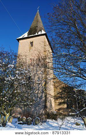 Church in winter