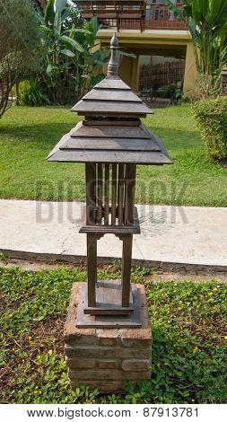 Lamp In Garden