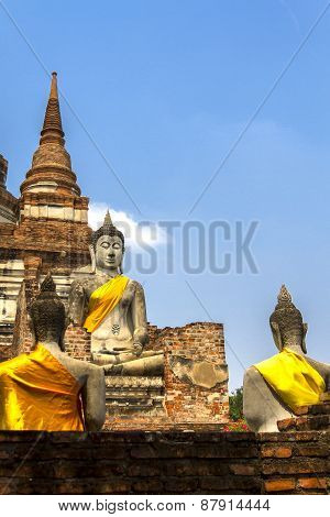 Statue Buddha And Architecture